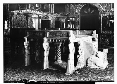 Tehran (Iran): Gulistan Palace: View of the Marble Throne in the Talar of Imarat-i Takht-i Marmar [graphic]