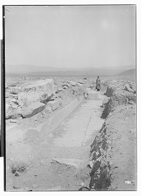 Excavation of Pasargadae (Iran): Palace 'S', North-East Portico: View of Excavated Trench [graphic]