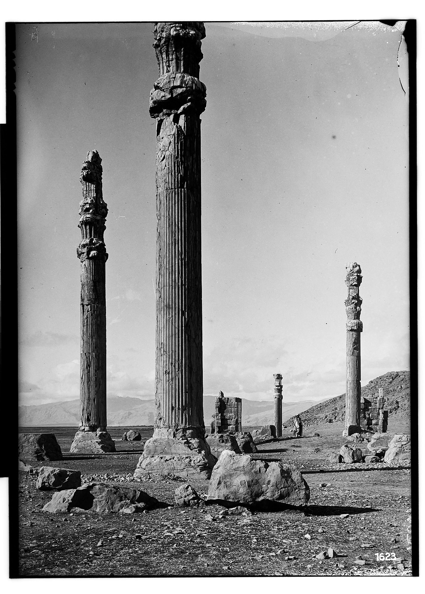 images for Excavation of Persepolis (Iran): Apadana, Columns of Audience Hall and North Portico: View before Excavation graphic