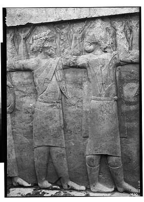 Excavation of Persepolis (Iran): Throne Hall, Southern Wall, West Jamb of Western Doorway: View of the Lowest Register Picturing Representatives of Fourteen Nations of the Empire [graphic]