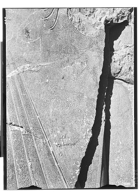 Excavation of Persepolis (Iran): Tachara Palace (Palace of Darius): Detail View of Relief with Pictorial Graffito Depicting Shapur i Papakan [graphic]