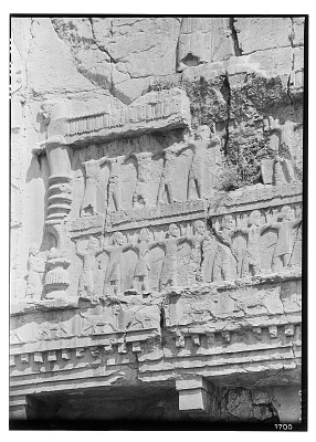 Excavation of Persepolis (Iran): Tomb of Artaxerxes II Mnemon, Upper Register: Panoramic View of Relief Picturing Representatives of All Nations of the Empire [graphic]