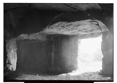 Island of Kharg (Iran): Interior of Southern or Eastern Tomb, Excavated out of the Surface Rock of the Plateau [graphic]