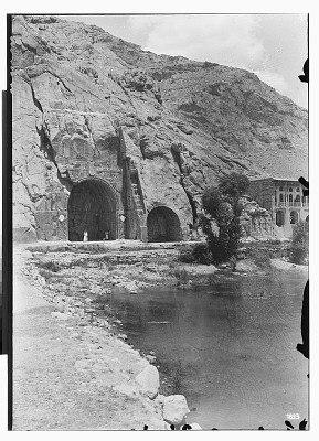 Taq-i Bustan (Iran): at the Foot of the Cliffs of the Mountain Known as Khu-i Paroo: General View of the Site [graphic]
