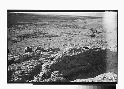 Vicinity of Naqsh-i Rustam (Iran): View of the Two Sculpted Astudans, Looking towards the Plain [graphic]