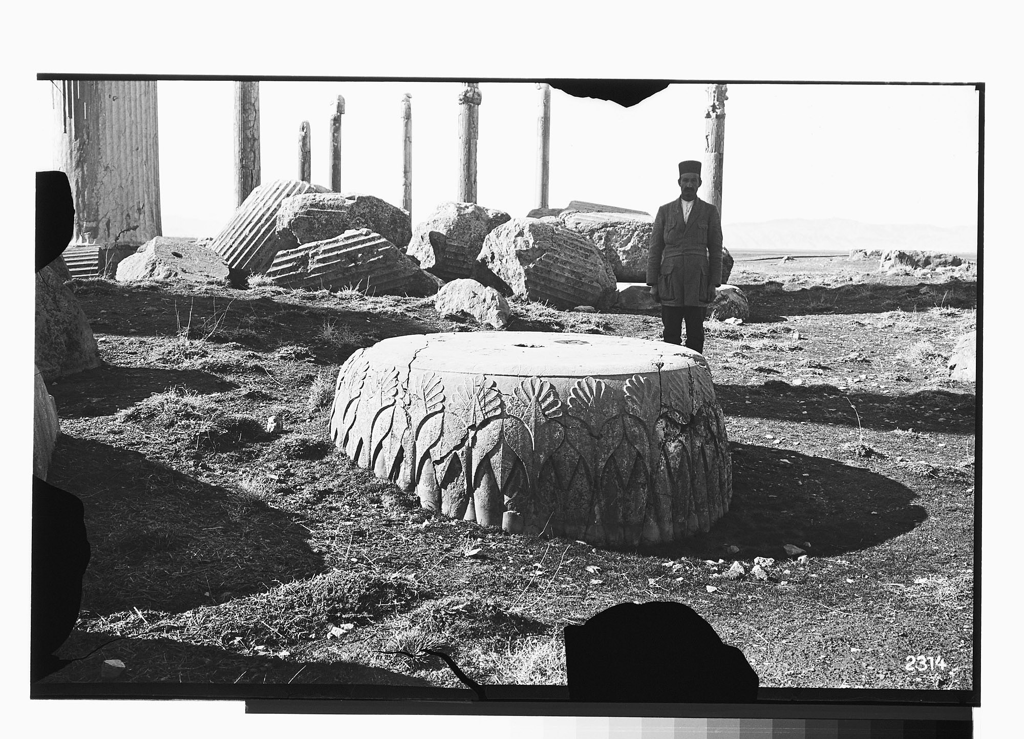 images for Excavation of Persepolis (Iran): Apadana, Campaniform Column Base: View before Excavation graphic