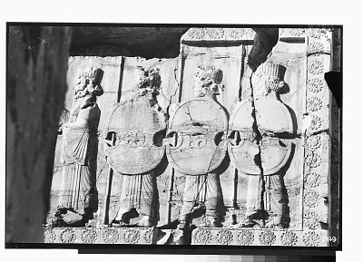 Excavation of Persepolis (Iran): Throne Hall, Northern Wall, West Jamb of Western Doorway: View of Second Register Picturing Persian Guards [graphic]