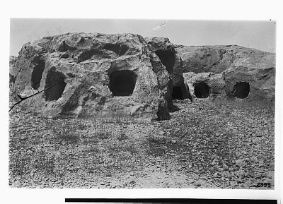 Island of Kharg (Iran): Rock-Cut Tombs Excavated out of the Surface Rock of the Plateau [graphic]