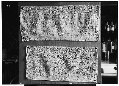 Palmyra (Syria): Two Paper Squeezes of Bilingual Inscriptions in the Palmyrene Dialect of Aramaic (Syriac Script) and in Greek [graphic]