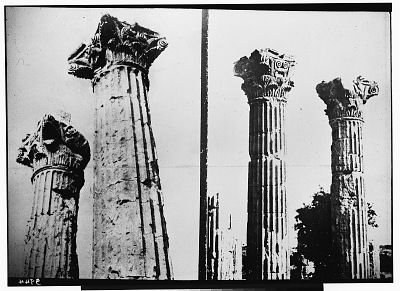 Uzunja Burj, Cilicia (Turkey): Temple of Zeus Olbius: View of Corinthian Columns [graphic]