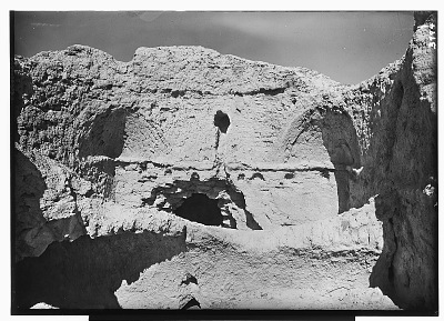 Excavation of Kuh-e Khwaja (Iran): Ruins of Fortified Structure Called Chehel Dokhtaran: View of Domed Chamber [graphic]