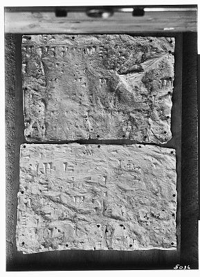 Naqsh-i Rustam (Iran): Two Squeezes of Inscription, DNb, Akkadian Version, on the Tomb of Darius I [graphic]