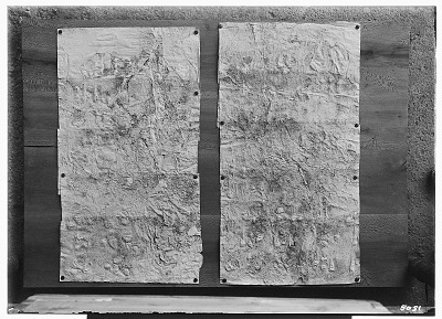 Naqsh-i Rustam (Iran): Two Squeezes of Inscription, DNb, Elamite Version, on the Tomb of Darius I [graphic]