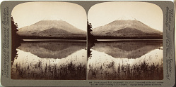 (14) Snow capped Fuji, the superb, (12,365 ft.) mirrrored in the still waters of Lake Shoji - looking S.E. - Japan, 1904 or earlier. [graphic]