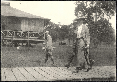 Mindanao: Alice Roosevelt at Camp Overton. August 22 to 23, 1905