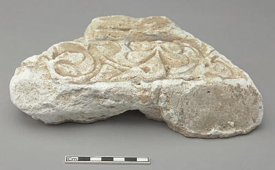 Architectural material; Fragment of arabesques with border