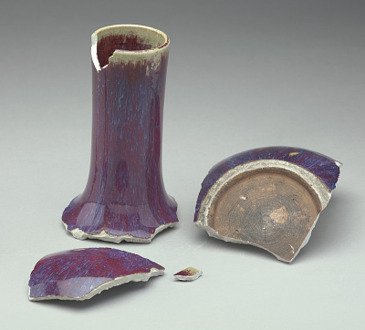 Sections of vase