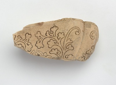 Mold for square dish, fragment
