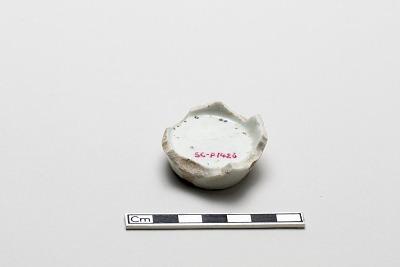 Sake cup, base fragment