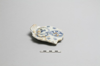 Warped plate fragment (molded)
