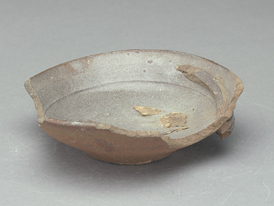 Bowl waster (nearly whole) fused with two rim fragments