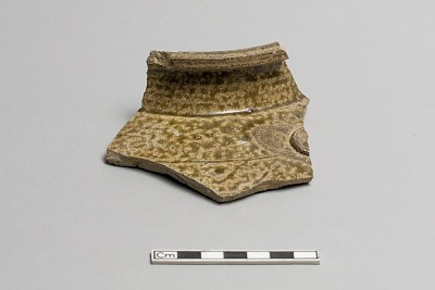 Tea-leaf storage jar fragment (part of lip and shoulder)