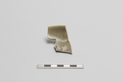 Small dish, fragment of base and wall