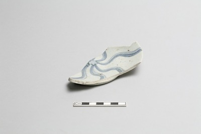 Plate, fragment (broken and repaired)