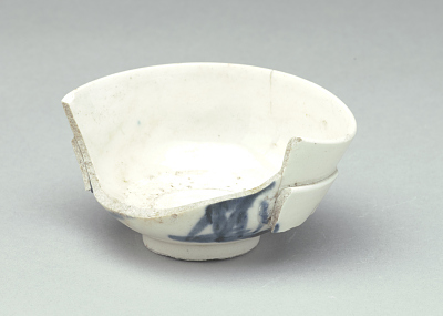 Small rice bowl, portion of rim and wall missing