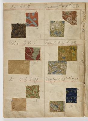 Album of silk samples used on Freer paintings