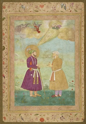 Shah Jahan with Asaf Khan from the Late Shah Jahan Album