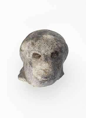 Human head, from a figure (?)
