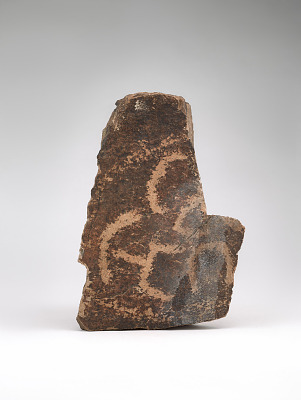 Stone with petroglyphs, fragment