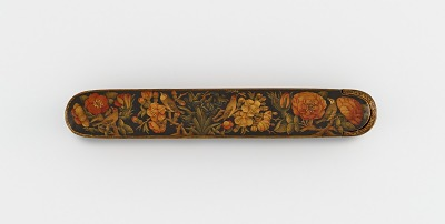 Pen case with flowers and birds