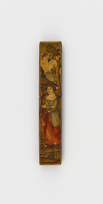 Wafer seal case with standing woman in a landscape