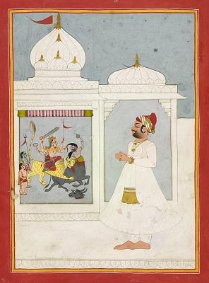 Thakur Ajit Singh worships the goddess Durga