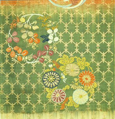 Noh robe fragment (karaori 唐織)