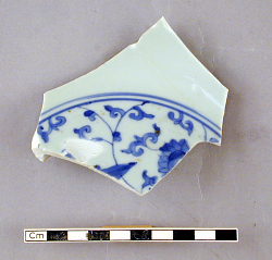Fragment of a dish with lotus scrolls