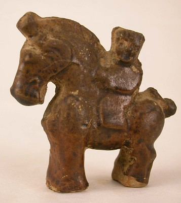 Figure of a horse with rider