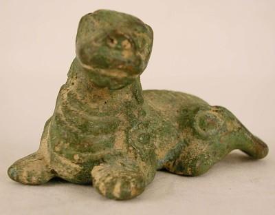 Recumbent dog