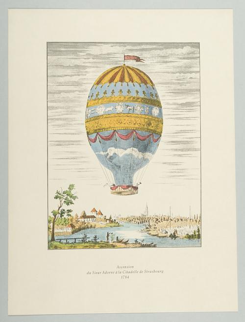 Ascension du Sieur Adorne à la Citadelle de Strasbourg 1784