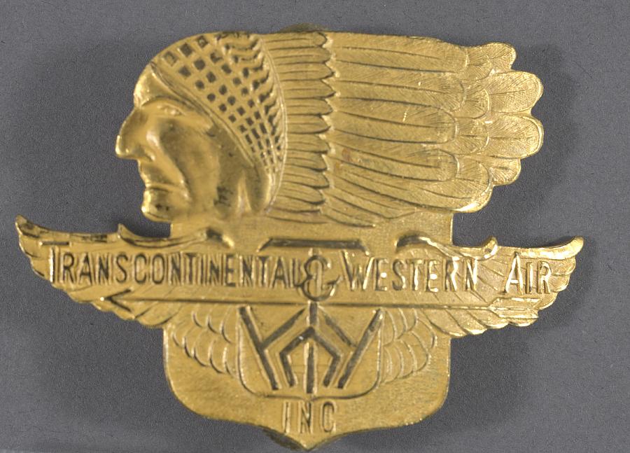 Badge, Cap, Pilot, Transcontinental & Western Air Inc. (TWA)