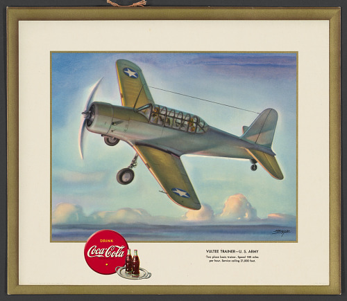 Poster, Advertising, VULTEE TRAINER- U.S. ARMY