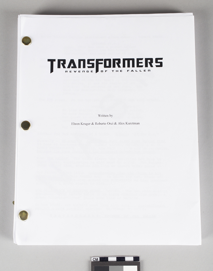 Movie Script, Transformers: Revenge of the Fallen