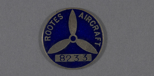 Pin, Lapel, War Worker, Rootes Securities Ltd.