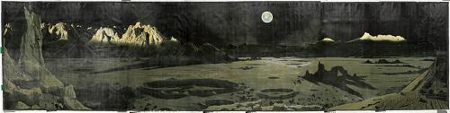 Painting, oil on canvas, A LUNAR LANDSCAPE, 1957