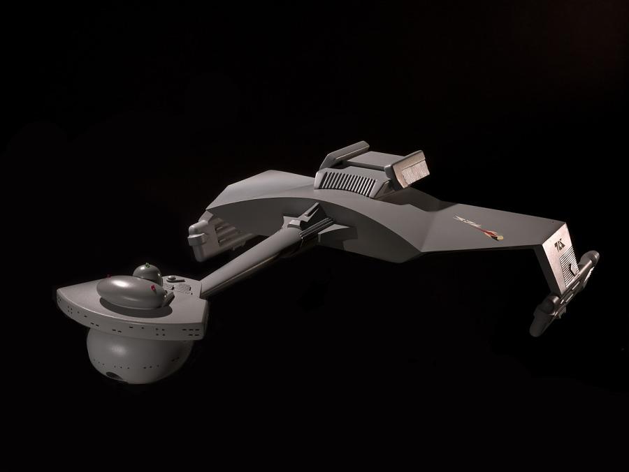 Model, D7 Klingon Battle Cruiser, 'Star Trek'