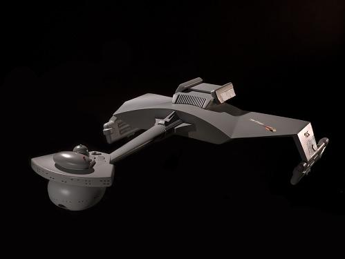 """Model, D7 Klingon Battle Cruiser, """"Star Trek"""""""