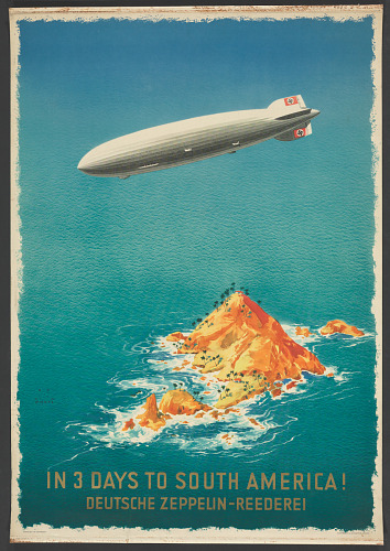 Poster, Advertising, Commercial Aviation