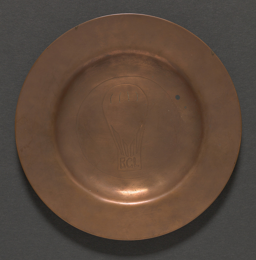 Plate, Brass/Copper, Decorative